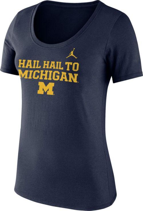 802dcdf3b53875 Jordan Women s Michigan Wolverines Blue Mantra T-Shirt. noImageFound. 1