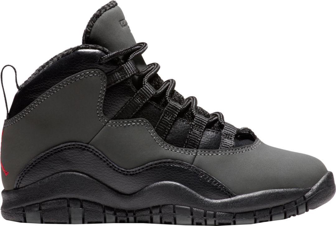5c2c98f2e59e9 Jordan Kids' Preschool Air Jordan 10 Retro Basketball Shoes | DICK'S ...