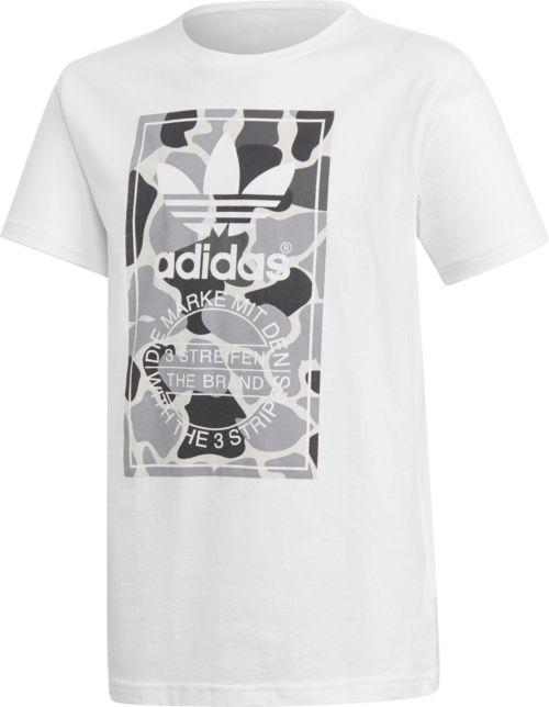 88bc45ecb637 adidas Originals Boys  Trefoil Camo T-Shirt
