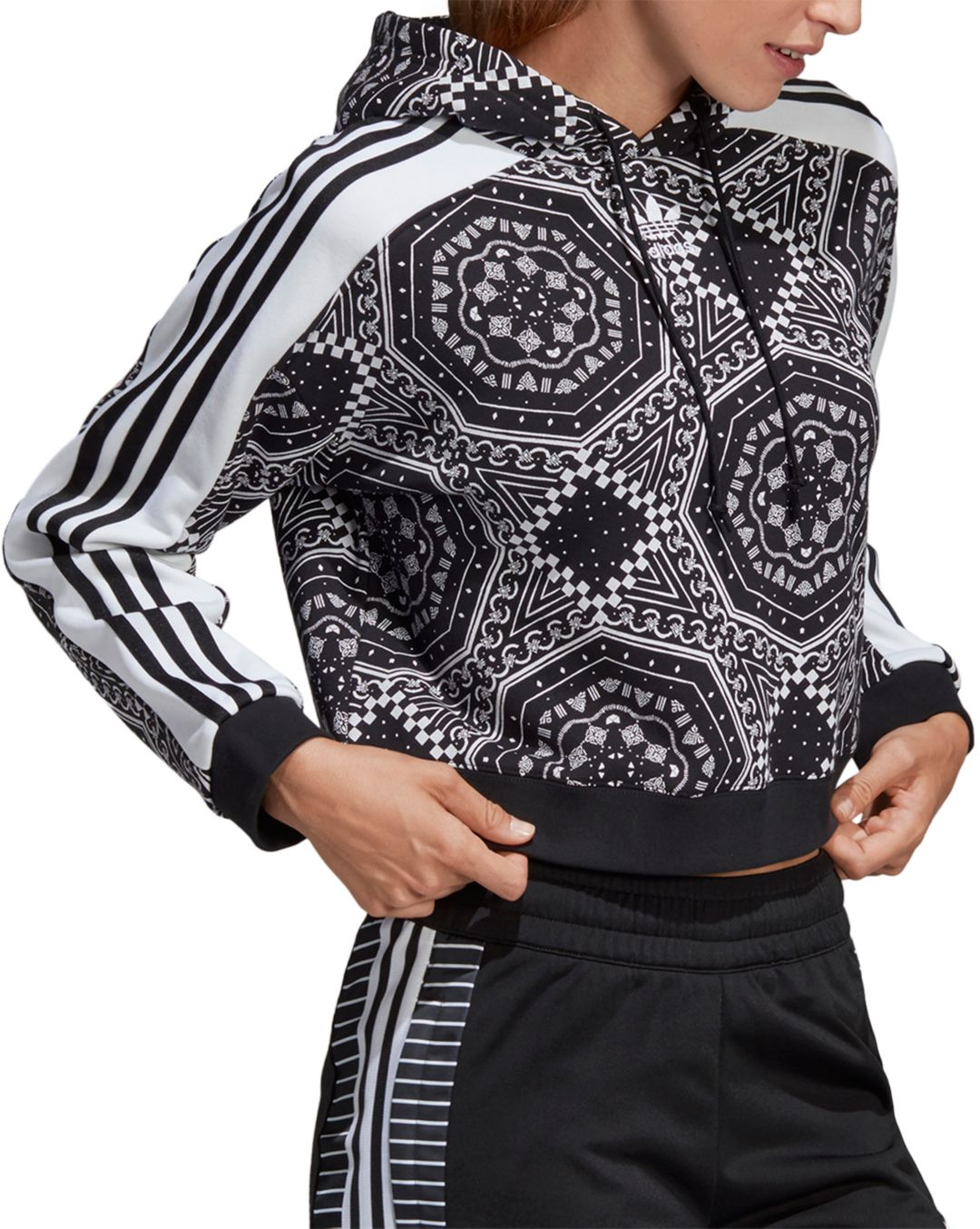 979240dd1b4 adidas Originals Women's Printed Cropped Hoodie. noImageFound. Previous