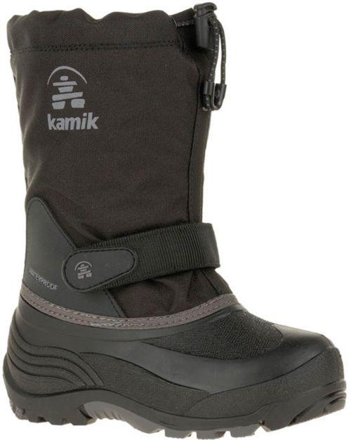 4230ad6ac4b Kamik Kids  WaterbugW Insulated Waterproof Wide Winter Boots ...