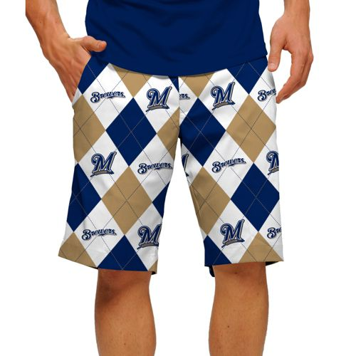 9ce5817a131 Loudmouth Men's Milwaukee Brewers Golf Shorts | DICK'S Sporting Goods
