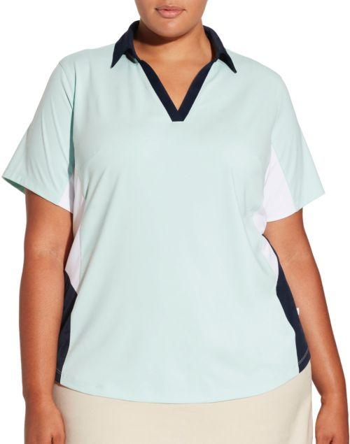 16ace0f5685 Lady Hagen Women s Georgetown Colorblock Golf Polo – Plus Size ...