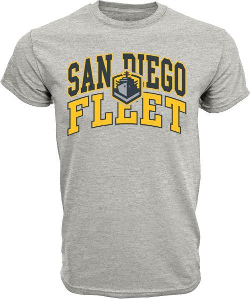 239ce2d89cbe Levelwear Men s San Diego Fleet Performance Arch Grey T-Shirt ...