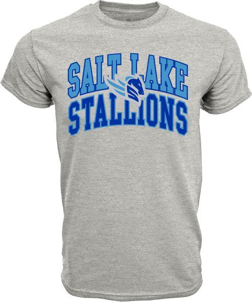 0c9340fa Levelwear Men's Salt Lake Stallions Performance Arch Grey T-Shirt ...