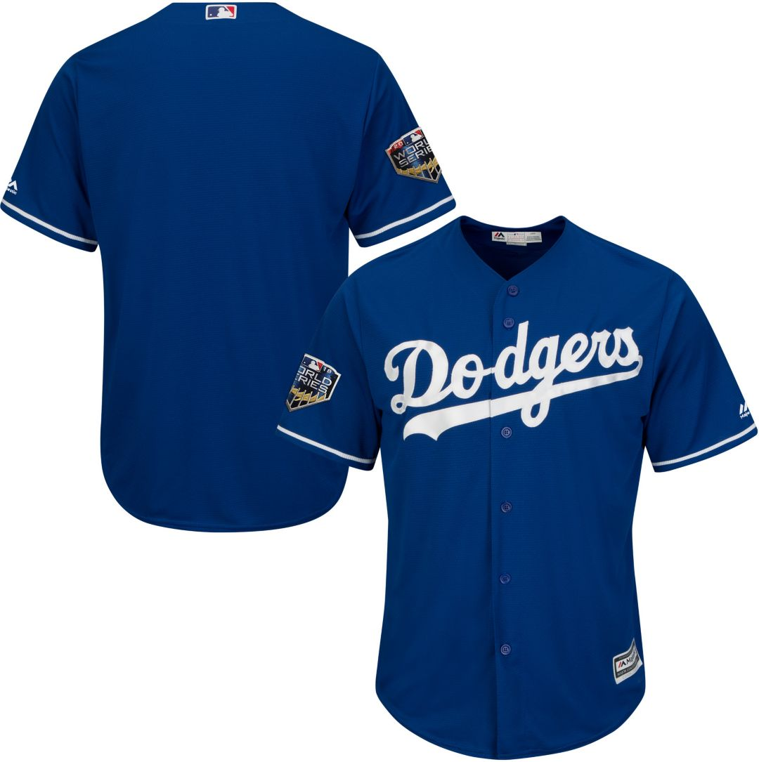 9b29bc554617 Majestic Men's 2018 World Series Replica Los Angeles Dodgers Cool Base  Alternate Royal Jersey. noImageFound. Previous