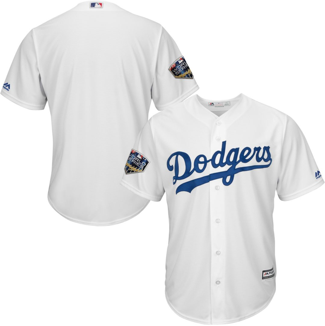 04900dd2c4c8 Majestic Men's 2018 World Series Replica Los Angeles Dodgers Cool Base Home White  Jersey. noImageFound. Previous