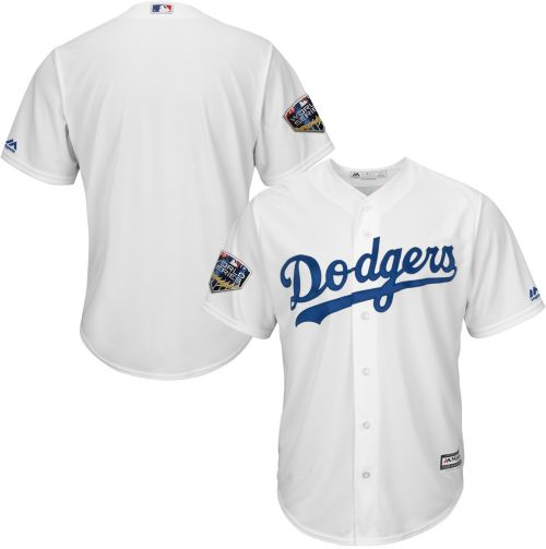 Majestic Men s 2018 World Series Replica Los Angeles Dodgers Cool Base Home  White Jersey. noImageFound. Previous ab113a00957