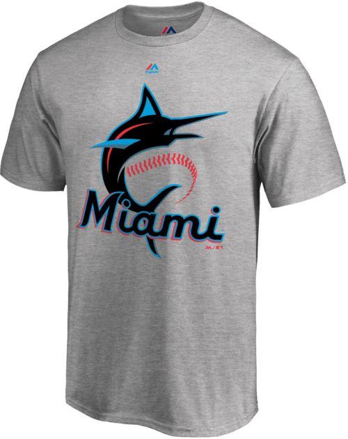 7226bc53a Majestic Men s Miami Marlins Grey T-Shirt. noImageFound. Previous