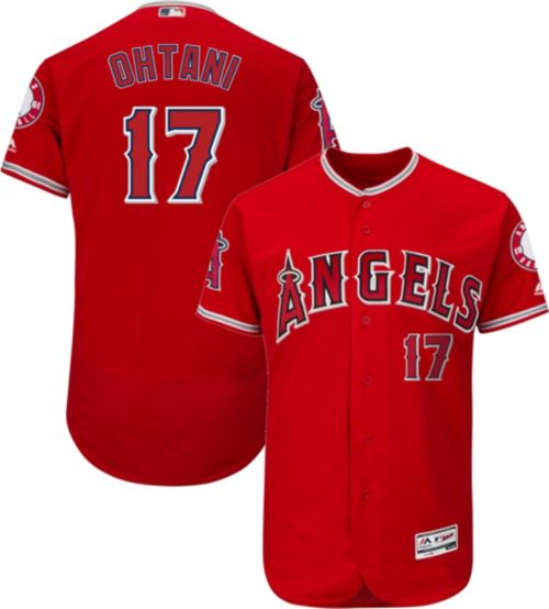 adb408b07 Majestic Men s Authentic Los Angeles Angels Shohei Ohtani  17 Flex Base  Alternate Red On-Field Jersey. noImageFound. Previous
