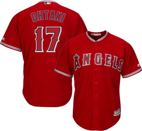 a13e0909567 Majestic Men s Replica Los Angeles Angels Shohei Ohtani  17 Cool Base  Alternate Red Jersey