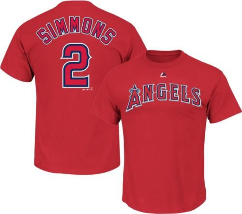 3621bd09c Majestic Men s Los Angeles Angels Andrelton Simmons  2 Red T-Shirt.  noImageFound. Previous
