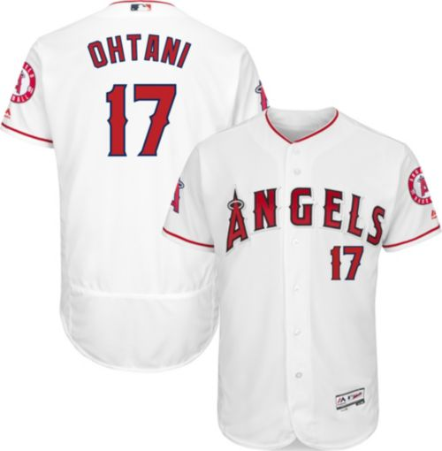 47d80a529fa Majestic Men s Authentic Los Angeles Angels Shohei Ohtani  17 Flex Base  Home White On-Field Jersey. noImageFound. Previous