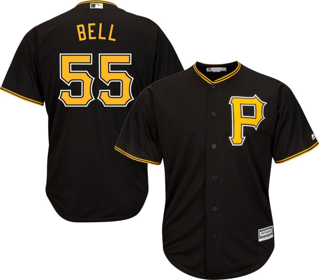 Replica Jersey Pittsburgh Pirates Cool Bell Majestic Men's Alternate Black Base Josh 55