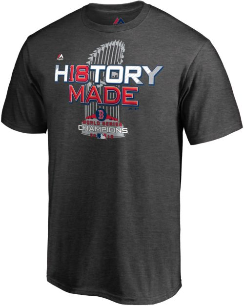 Majestic Men s 2018 World Series Champions Locker Room Boston Red Sox Grey  T-Shirt. noImageFound. Previous 673250cf314c