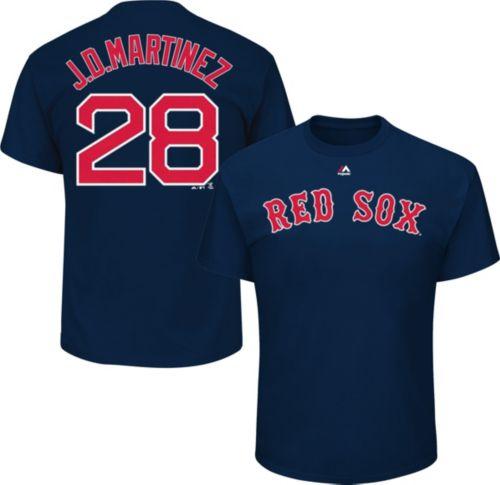 3e8e642bd Majestic Men's Boston Red Sox J.D. Martinez #28 Navy T-Shirt ...