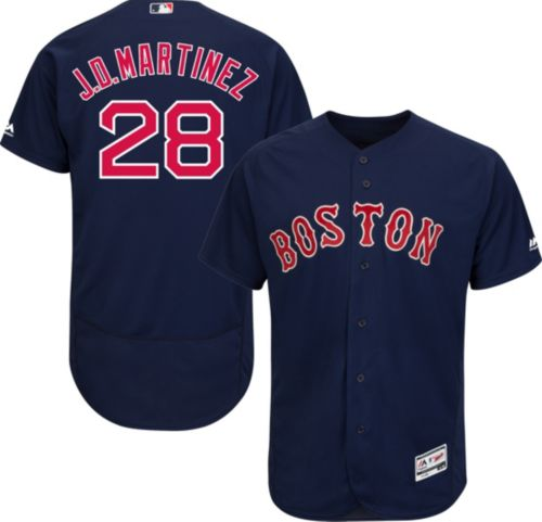 c77e4e5f9 Majestic Men s Authentic Boston Red Sox J.D. Martinez  28 Flex Base  Alternate Navy On-Field Jersey. noImageFound. Previous
