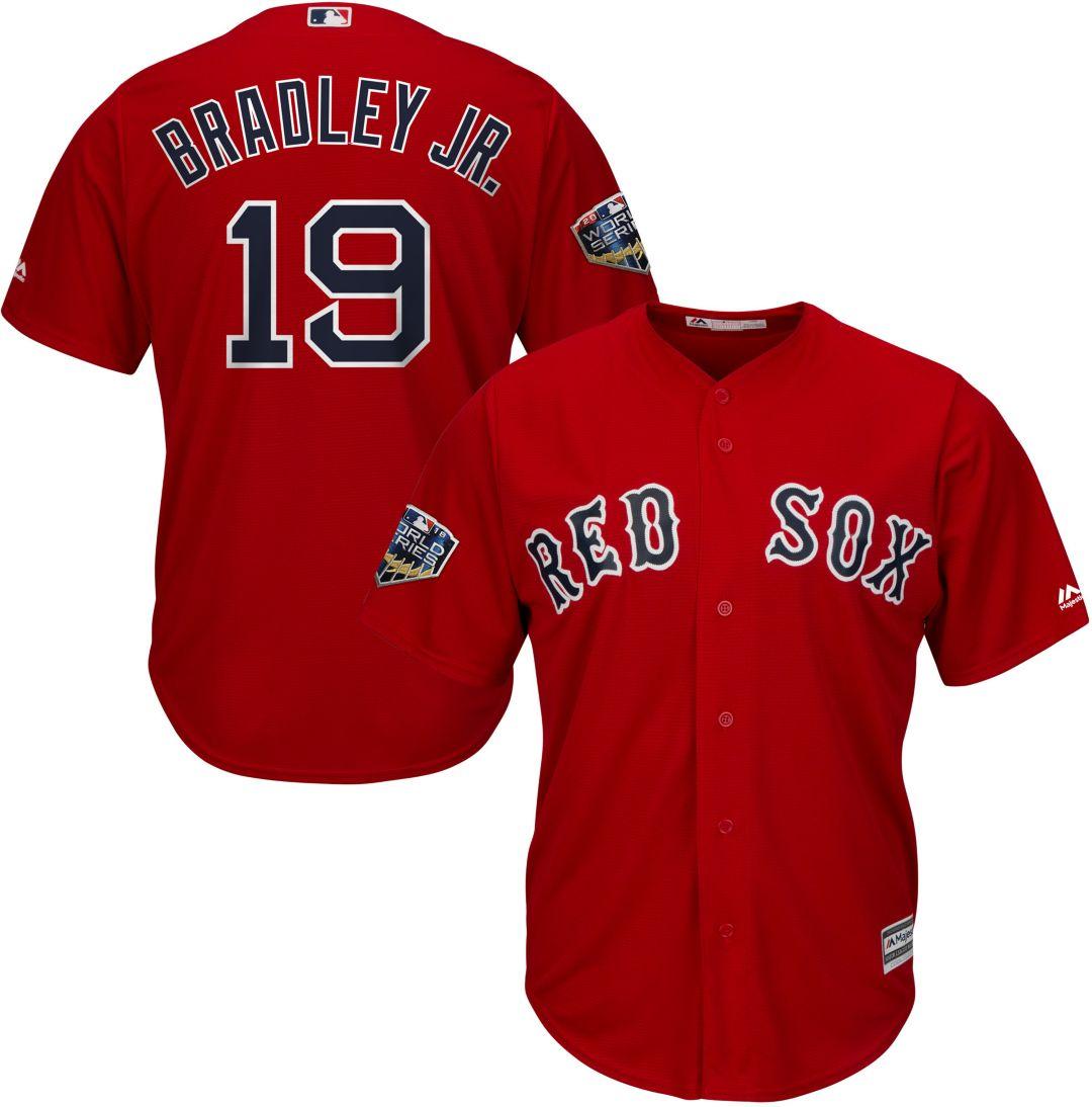 772bf94ef Majestic Men's 2018 World Series Replica Boston Red Sox Jackie Bradley Jr. Cool  Base Alternate Red Jersey | DICK'S Sporting Goods