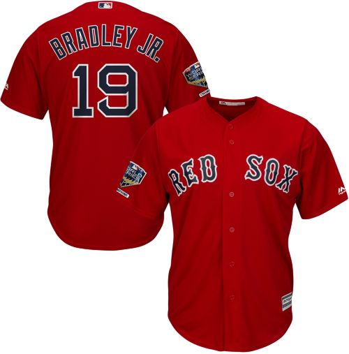 948c3774c Majestic Men's 2018 World Series Champions Replica Boston Red Sox Jackie  Bradley Jr. Cool Base Alternate Red Jersey. noImageFound. Previous