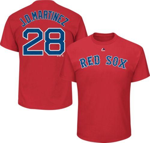 Majestic Men s Boston Red Sox J.D. Martinez  28 Red T-Shirt  c1dd9a9da9b