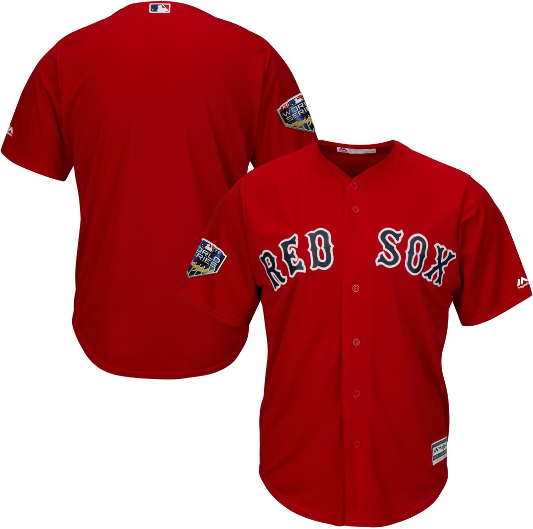 1daa35ce9 Majestic Men's 2018 World Series Replica Boston Red Sox Cool Base Alternate Red  Jersey. noImageFound. Previous