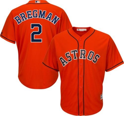 82c3c52ece0 Majestic Men's Replica Houston Astros Alex Bregman #2 Cool Base Alternate  Orange Jersey. noImageFound. Previous. 1. 2. 3