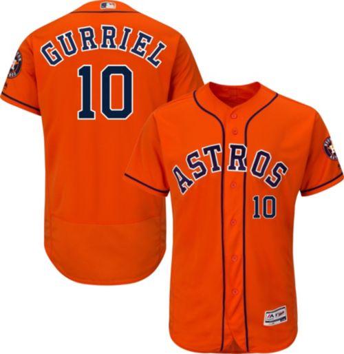 d33652ad8 Majestic Men s Authentic Houston Astros Yuli Gurriel  10 Flex Base  Alternate Orange On-Field Jersey. noImageFound. Previous