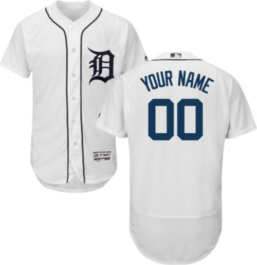 77682415a Majestic Men s Custom Authentic Detroit Tigers Flex Base Home White ...