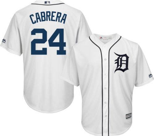 53e2d0c66 Majestic Men s Replica Detroit Tigers Miguel Cabrera  24 Cool Base ...