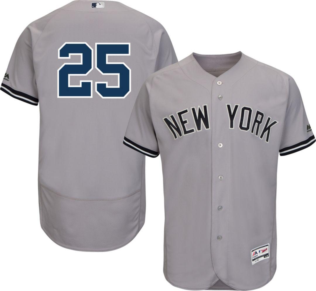 7dad40e7f Majestic Men's Authentic New York Yankees Gleyber Torres #25 Flex Base Road  Grey On-Field Jersey. noImageFound. Previous