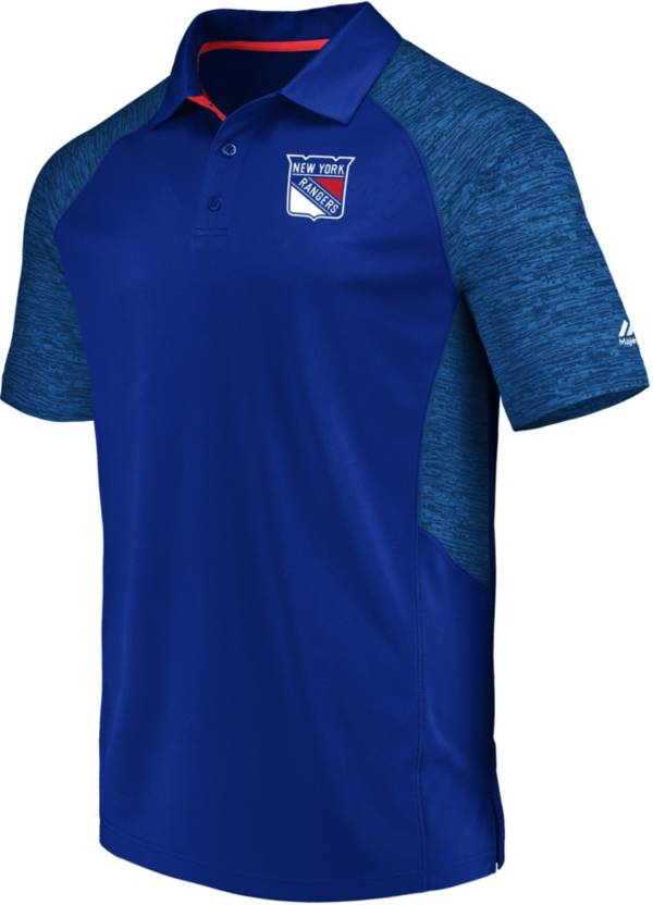 Majestic Men's New York Rangers Ultra Blue Polo product image