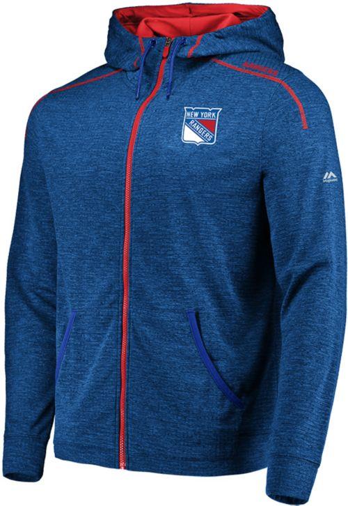 f32fdffa8 Majestic Men s New York Rangers Elite Blue Full-Zip Hoodie. noImageFound.  Previous