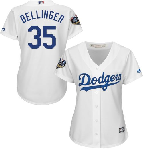 324a7ae501a Majestic Women s 2018 World Series Replica Los Angeles Dodgers Cody  Bellinger Cool Base Home White Jersey. noImageFound. Previous