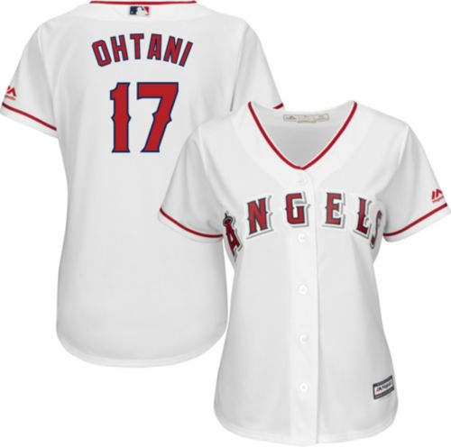 15f15dc24 Majestic Women s Replica Los Angeles Angels Shohei Ohtani  17 Cool Base  Home White Jersey. noImageFound. Previous