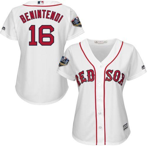 b77c41a9f Majestic Women s 2018 World Series Replica Boston Red Sox Andrew Benintendi  Cool Base Home White Jersey. noImageFound. Previous