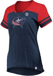 c24dbeaa0 Majestic Women s Columbus Blue Jackets Hyper Navy V-Neck T-Shirt alternate 0