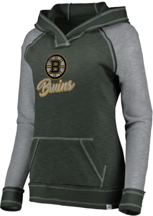 Nhl Women S Boston Bruins Hyper Black V Neck Pullover Hoodie