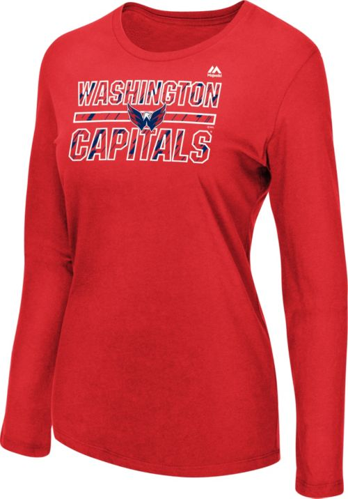 Majestic Women s Washington Capitals Pregame Red Long Sleeve Shirt.  noImageFound. Previous 681c1e931