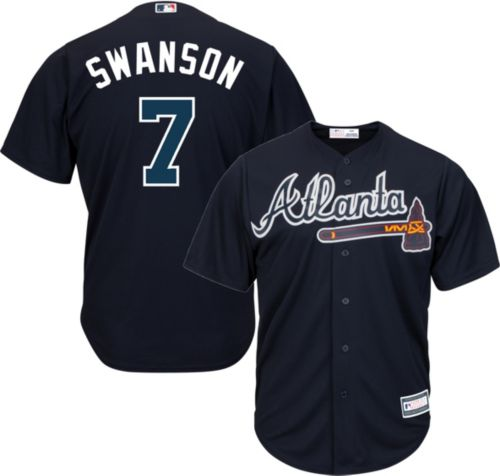 8c421af7a Youth Replica Atlanta Braves Dansby Swanson  7 Alternate Navy Jersey.  noImageFound. Previous