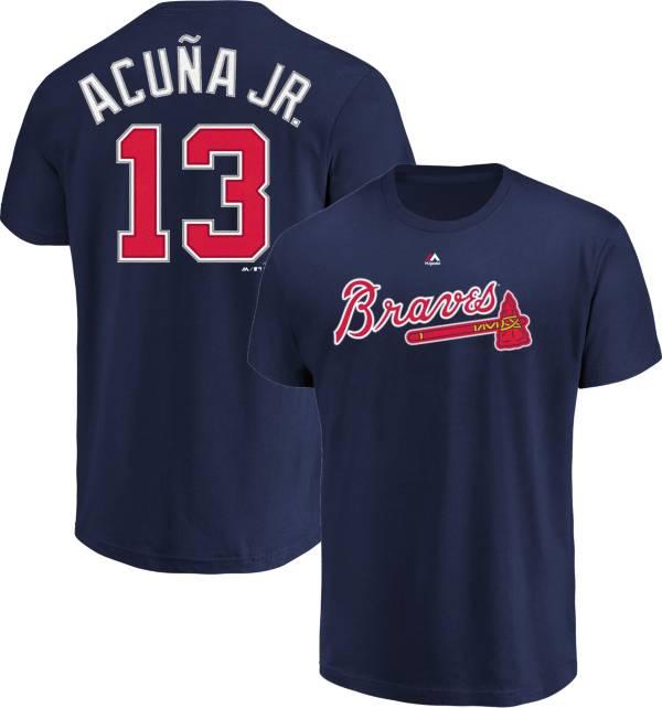 Majestic Youth Atlanta Braves Ronald Acuña #13 Navy T-Shirt product image