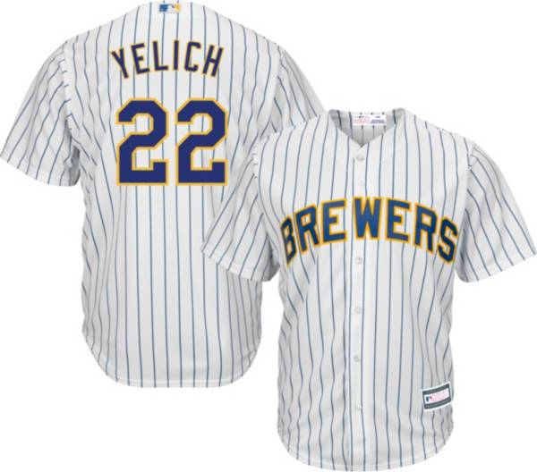 Youth Replica Milwaukee Brewers Christian Yelich #22 Alternate White Jersey product image