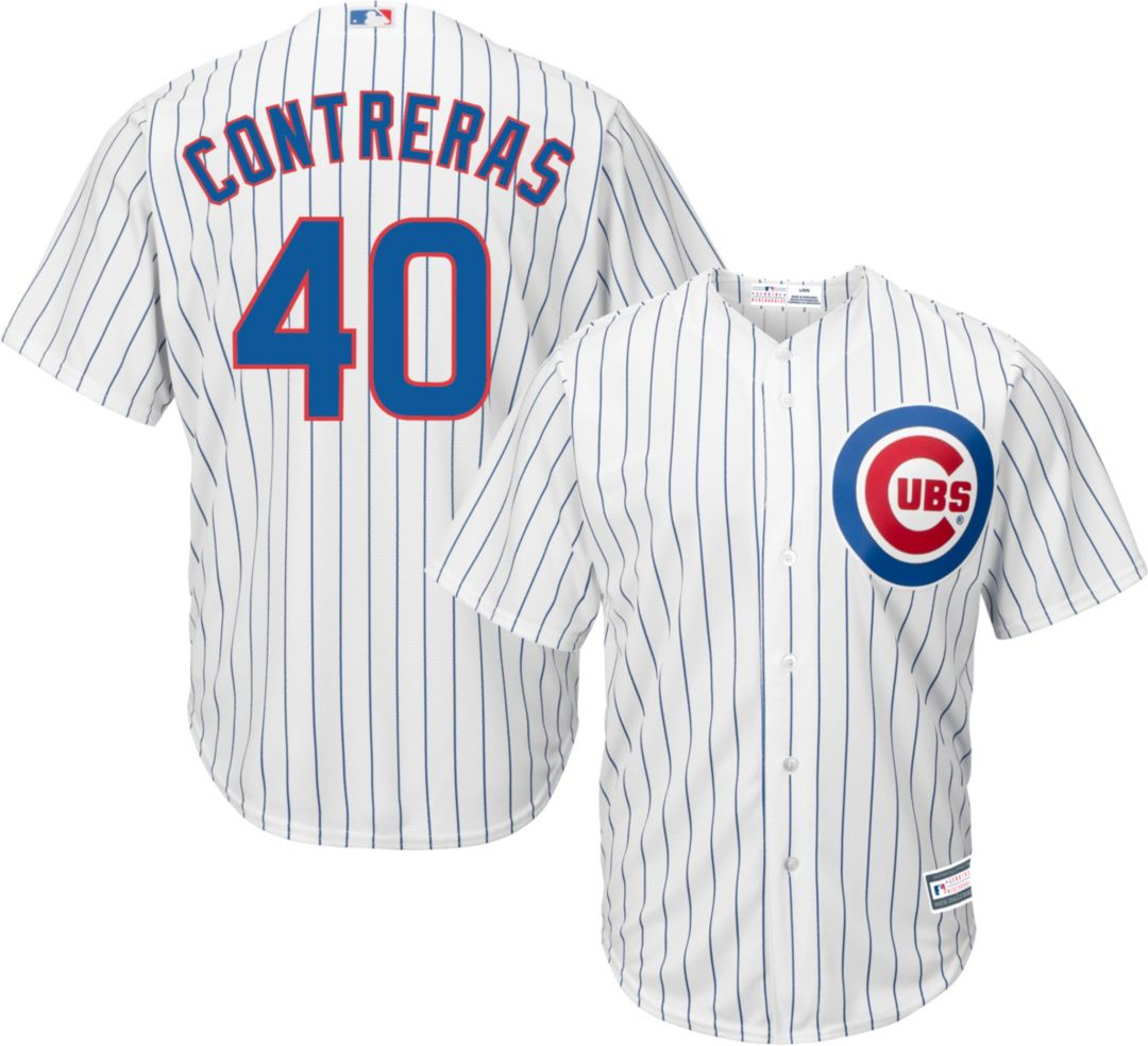 96d6a5b8 Youth Replica Chicago Cubs Willson Contreras #40 Home White Jersey ...