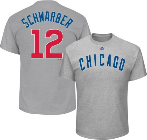 44fc8483e Majestic Youth Chicago Cubs Kyle Schwarber  12 Grey T-Shirt. noImageFound.  Previous