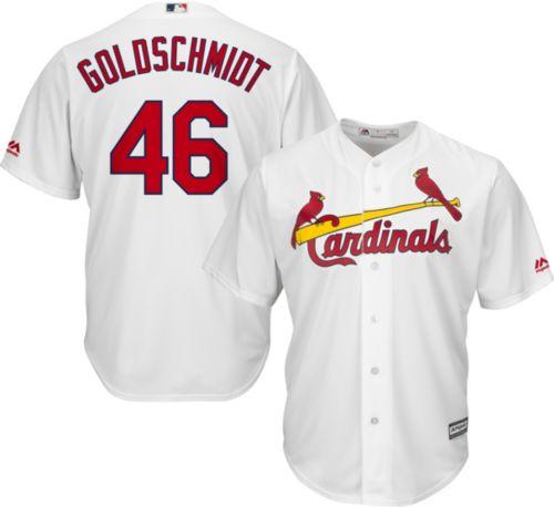 cadea306385 Majestic Youth Replica St. Louis Cardinals Paul Goldschmidt  46 Cool Base  Home White Jersey