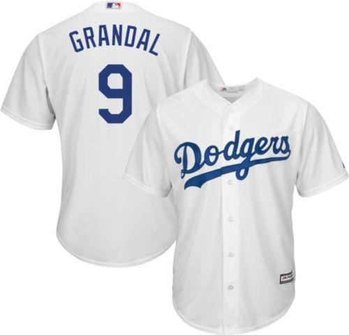 Majestic Youth Replica Los Angeles Dodgers Yasmani Grandal  9 Cool Base  Home White Jersey 50c1e7f34