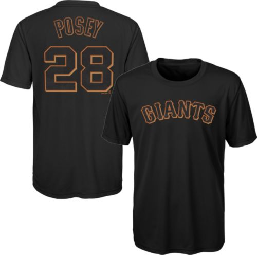 9094c852f Majestic Youth San Francisco Giants Buster Posey  28 Performance T-Shirt