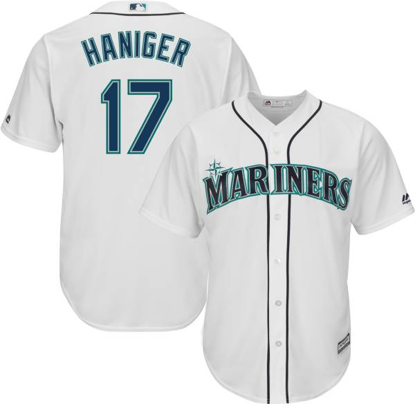 Youth Replica Seattle Mariners Mitch Haniger #17 Home White Jersey product image