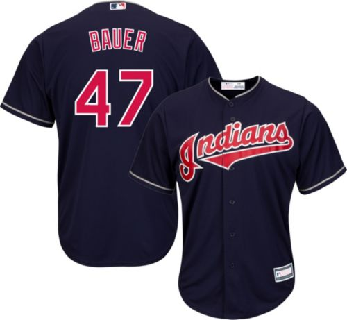 668ada1d3 Youth Replica Cleveland Indians Trevor Bauer  47 Alternate Navy Jersey.  noImageFound. Previous