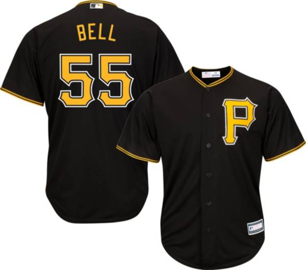 Youth Replica Pittsburgh Pirates Josh Bell #55 Alternate Black Jersey product image