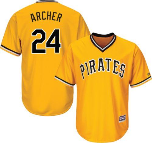 ec7f3cb86 Majestic Youth Replica Pittsburgh Pirates Chris Archer  24 Cool Base ...